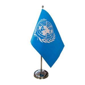 Table flag with single flag pole