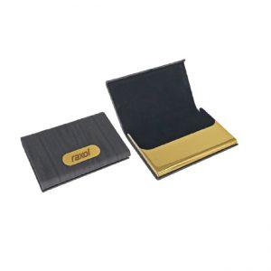 Golden business card holder