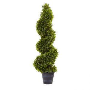 Şam ağacı spiral formalı