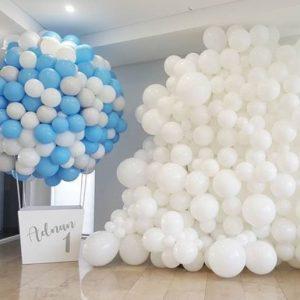 Helium balloons in different design