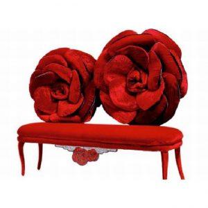 Red rose sofa