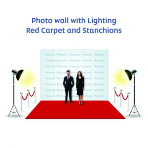 Photowall with red carpet