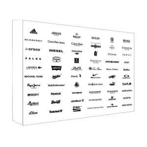 Banner photowall on metal frames (brandwall)