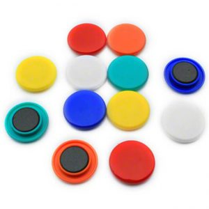 Colored magnets for flipchart and whiteboard