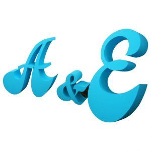 Special 3D illuminated letters