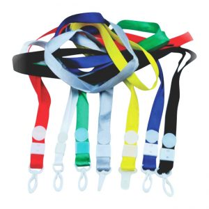 Lanyard with plastic holder