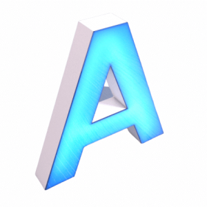 3D hərflər (öndən işıqlanma)