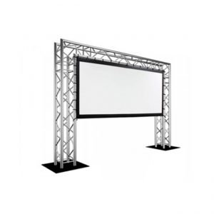 Projector Screen on Goal Post Truss