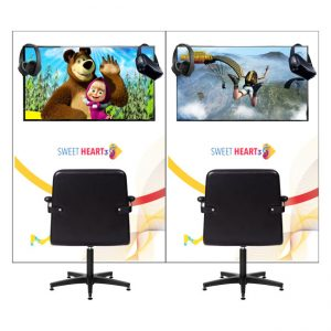 TV Monitor for VR (virtual reality) stations