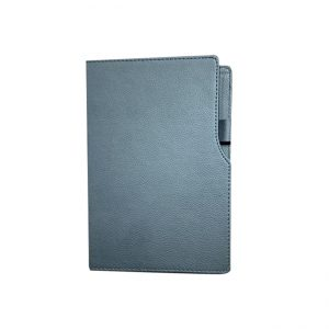 Leather diary with elastic holder