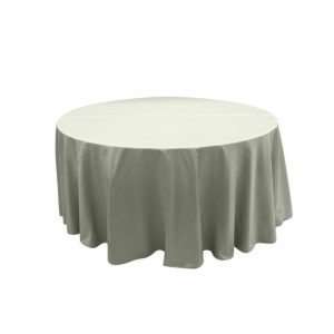 Round tablecloth gray