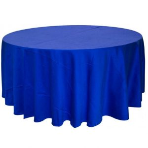 Round tablecloth  blue