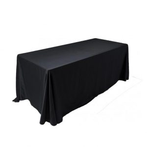Black oval tablecloth