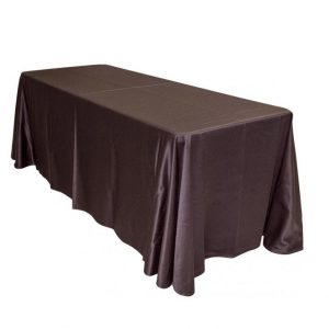 Brown oval tablecloth
