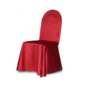 Universal chair cover red