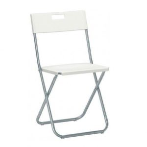 White Gunde Folding Chair
