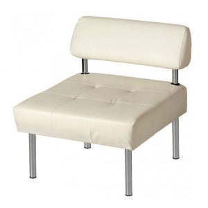 White armchair Office without armrests